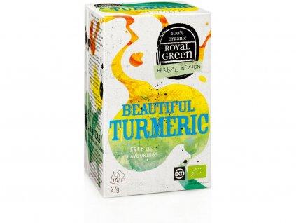 Bio bylinný čaj Beautiful Turmeric 27g Royal Green
