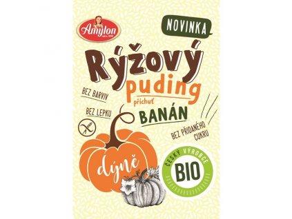 Puding rýžovo-dýňový s příchutí banánu 40 g BIO AMYLON