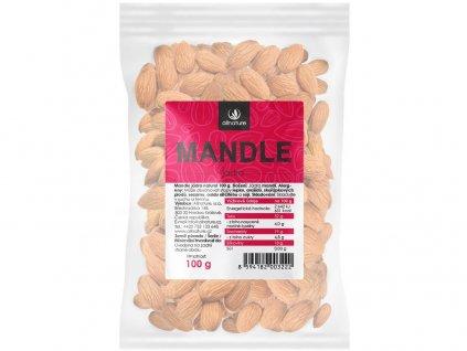 Mandle jádra natural 100g Allnature