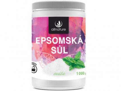 Epsomská sůl máta 1000g Allnature