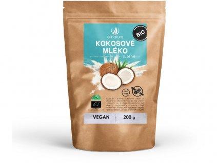 Bio kokosové mléko sušené 200g Allnature