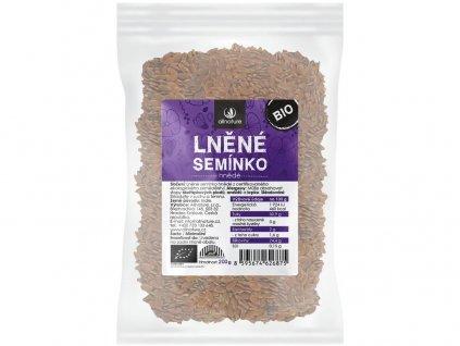 Bio Lněné semínko hnědé 200g Allnature