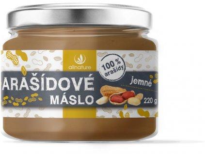 Arašídové máslo jemné 220g Allnature