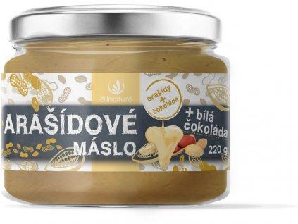 Arašídové máslo s bílou čokoládou 220g Allnature