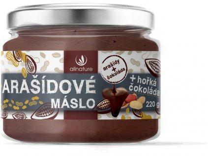 Arašídové máslo s hořkou čokoládou 220g Allnature