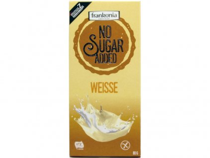 AKCE Bílá čokoláda bez přidaného cukru 80g Frankonia