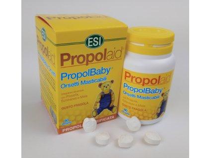 Propolisové medvídkové tablety PROPOLBABY 80 ks ESI
