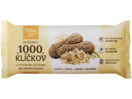 Sušenky 1000 klíčků s ovesnými klíčky 90g Nature Line