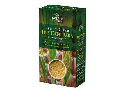 Cukr Dry Demerara třtinový přírodní světlý 300g krabička Grešik