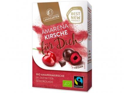 AKCE Bio třešně v hořké čokoládě krabička 90g Landgarden