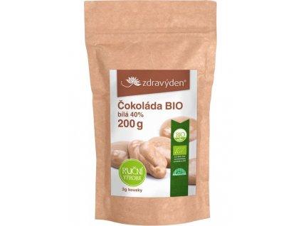 Čokoláda bílá BIO 40% 200g Zdravý den