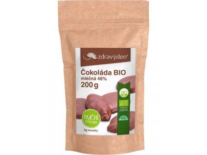 Čokoláda mléčná BIO 46% 200g Zdravý den