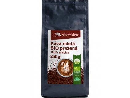 Káva mletá BIO pražená 250g Zdravý den