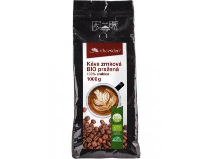 Káva zrnková BIO pražená 1000g Zdravý den