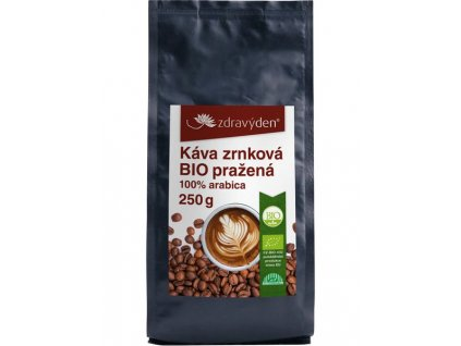Káva zrnková BIO pražená 250g Zdravý den