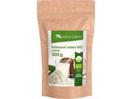 Kokosové mléko BIO sušené 300g Zdravý den