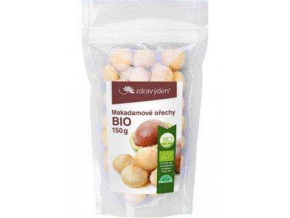Makadamové ořechy BIO loupané 150g Zdravý den