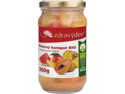 Ovocný kompot BIO v ananasové šťávě 350g Zdravý den