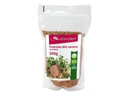 Ředkvička BIO – semena na klíčení 200g Zdravý den