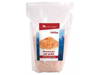 Sůl himalájská jedlá růžová HRUBĚ mletá 1000g Zdravý den