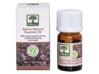 BIOselect® 100% přírodní BIO esenciální olej ze saturejky horské 5ml BIOselect®