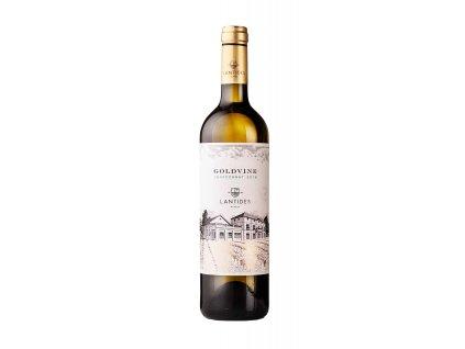 Lantides Winery Bílé suché víno GOLDVINE Chardonnay 2019 LANTIDES 750 ml
