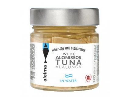 ALELMA Fine Delikatessen Bílý tuňák ve vlastní šťávě z ostrova Alonissos 212g ALELMA