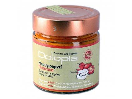 Bougiourdi pikantní rajčatovo-papriková omáčka s fetou 250g DOLOPIA