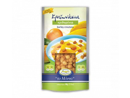 Celozrnné ječmenné krutony z olivovým olejem z Kréty 100g TO MANNA