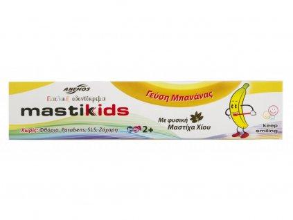 Anemos Dětská zubní pasta bez fluoridu s mastichou a banánem 75ml