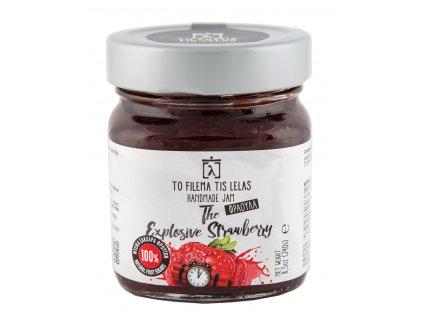 Domácí jahodová marmeláda bez cukru 240g TO FILEMA TIS LELAS