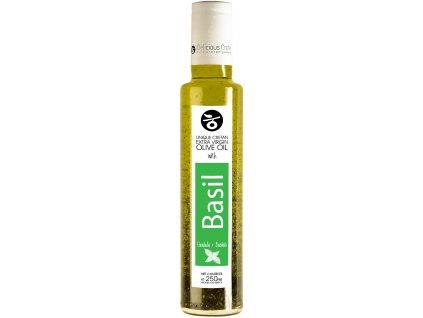 Extra panenský olivový olej s bazalkou 250ml DELICIOUS CRETE