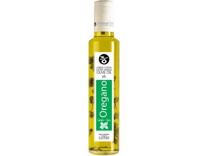 Extra panenský olivový olej s oreganem 250ml DELICIOUS CRETE