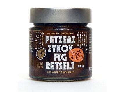 Fíkové retséli bez cukru s vlašskými ořechy 300gr KUMILIO