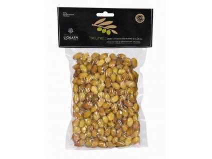 Liokarpi Protogerakis Mini zelené olivy Tsounati 220g Liokarpi
