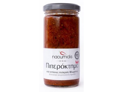 Naoumidis Piperia Florinis Piperoktima - BIO pikantní pomazánka z florina paprik s vlašskými ořechy 260g NAOUMIDIS