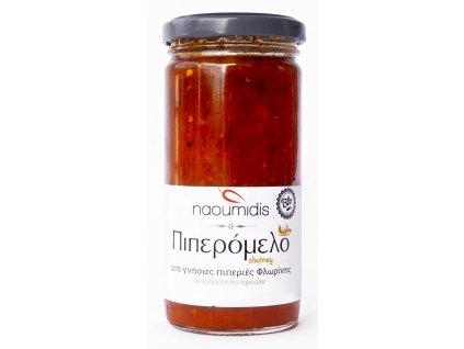 Naoumidis Piperia Florinis Piperomelo - BIO chutney z červených paprik a medu 260g Naoumidis