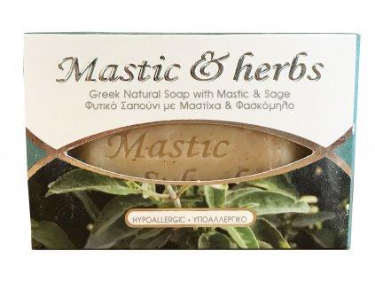 Mastic & herbs Přírodní hypoalergické mýdlo s mastichou a šalvějí 125gr