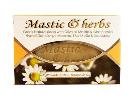 Mastic & herbs Přírodní olivové hypoalergické mýdlo s mastichou a heřmánkem 125gr