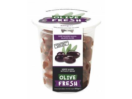 MY OLIVE Řecké kalamon olivy bez pecek 220g OLIVE FRESH