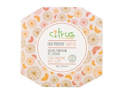 Tradiční chioská oplatka s chioskou mandarinkou a sezamem 70g CITRUS
