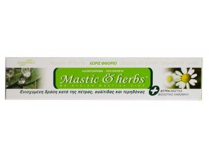 Anemos Zubní pasta bez fluoridu s mastichou a BIO heřmánkem 75ml