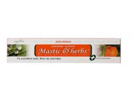 Anemos Zubní pasta bez fluoridu s mastichou a mandarinkou 75ml