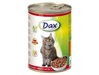 DAX  kousky CAT HOVĚZÍ  415g-(Balení 24 kusů)