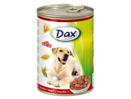 DAX  kousky DOG HOVĚZÍ  415g-(Balení 24 kusů)
