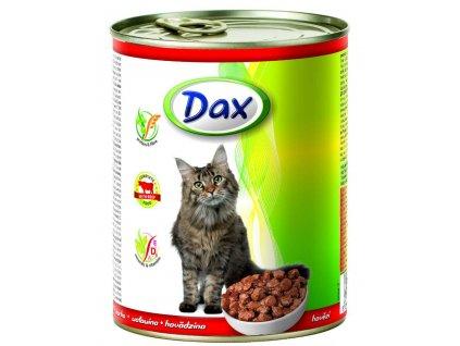 DAX  kousky CAT 830g HOVĚZÍ-(Balení 12 kusů)