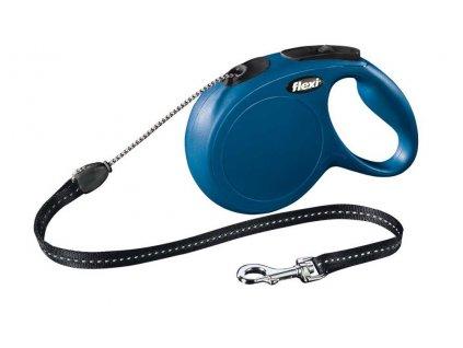 Flexi New Classic Cord M 8m modrá