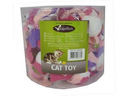 Hračka kočka - žaba plyšová, mix barev