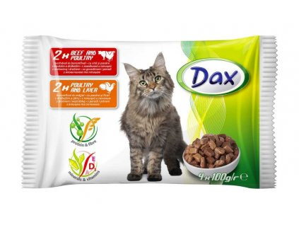 DAX kapsa CAT 4-pack 100g v omáčce-(Balení 13 kusů)