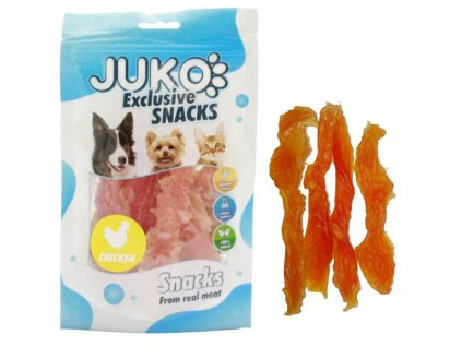 JUKO SNACKS Chicken soft jerky made by hand 70 g